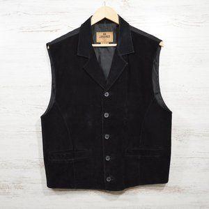 J. Riggins  Black Leather Suede Vest